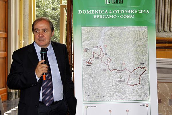 Vegni presenta il 109^ Lombardia  (Foto Kia)