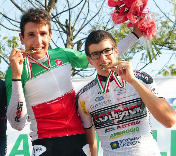 Davide Martinelli ed Edoardo Affini (Foto Rodella)