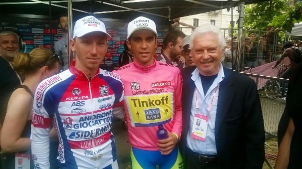 Marco Bandiera, Alberto Contador e Gianni Savio