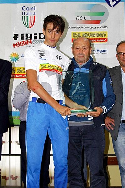 Belletta col Trofeo Fabio Casartelli