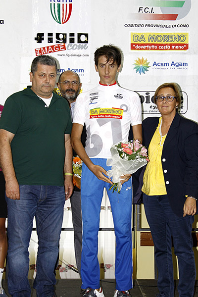 Belletta vincitore Giro Como (Foto Kia)