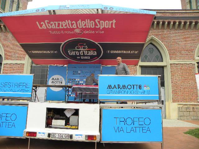 Nando Piazza prepara il podio (Foto Nastasi)