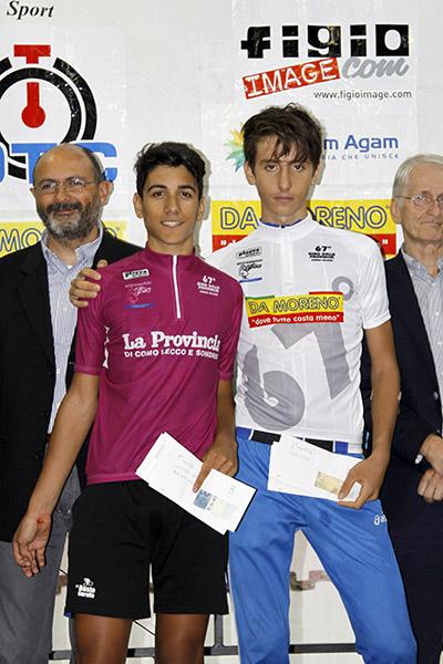 Parisini e Belletta onorano il 67^ Giro della prov di Como (Foto Kia)