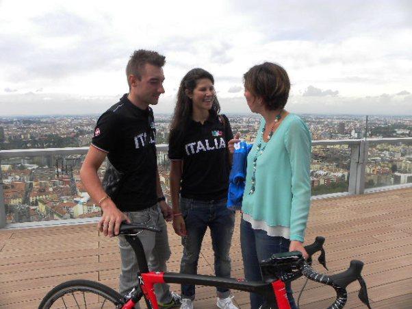 Viviani, Cecchini e Roberta Ceppi (Foto Nastasi)