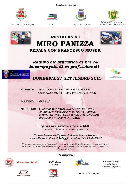 17.09.2015 - LOCANDINA DEFINITIVA CORSA RICORDANDO MIRO PANIZZA