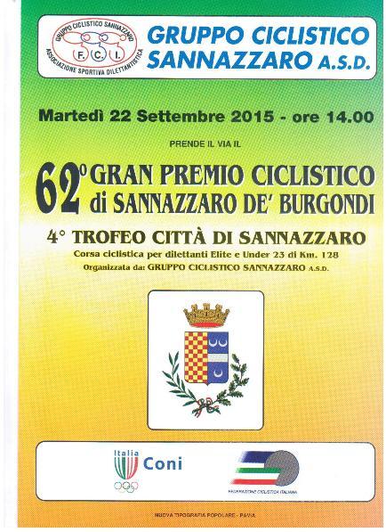 22.09.15 - LOCANDINA SANNAZZARO DE BURGONDI