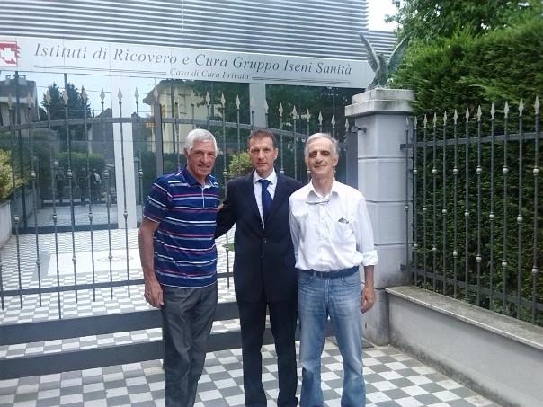 da sx, Francesco Moser, Dr. Fabrizio Iseni e presidente A.C.E.P. Mario Lanzafame