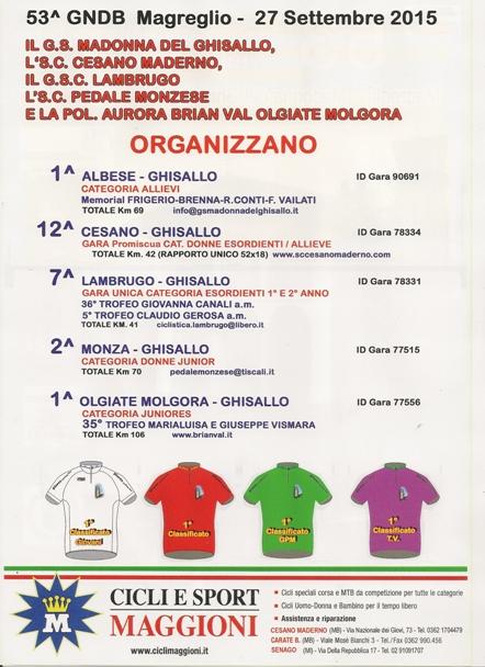 24.09.15 - ELENCO GARE 53^ GIORNATA NAZIONALE DELLA BICICLETTA