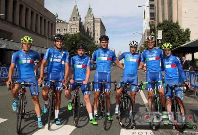 Gli azzurri a Richmond (Foto Rodella)
