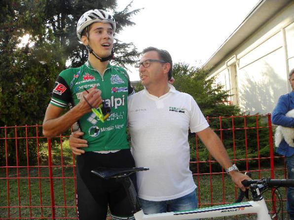 Nicola Cesaro col suo DS Tiziano Dozio (Foto Nastasi)