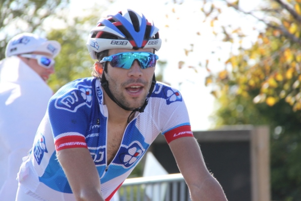 Thibaut Pinot all'arrivo (Foto JC Faucher)
