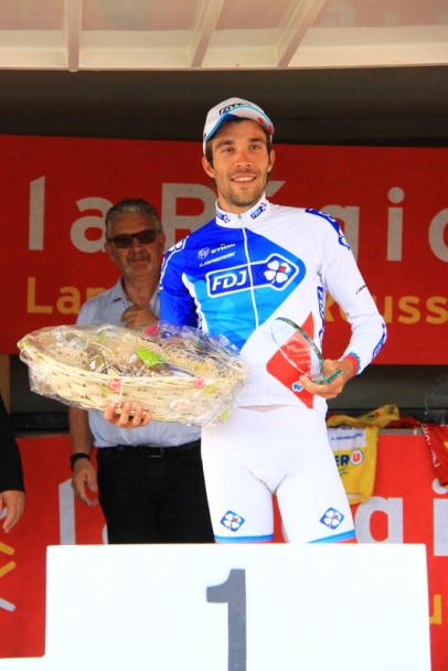 Thibaut Pinot vincitore 1^ tappa (Foto JC Faucher)