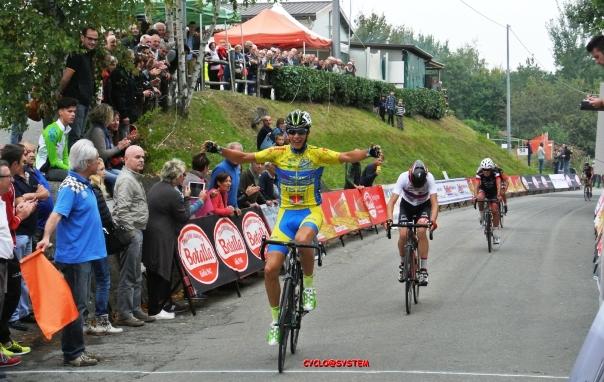 Brescianini sul campione regionale piemontese Francesco Canepa nel Memorial Giancarlo Astrua (cyclosystem)