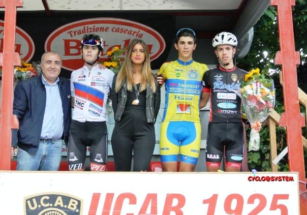 da sx, F. Canepa, Brescianini e Passarino, podio Memorial Giancarlo Astrua (cyclo@system)