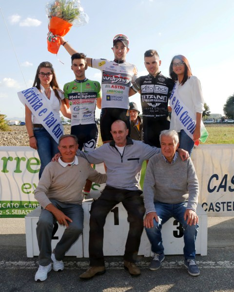 Podio con gli Organizzatori ad Alzano Scrivia (Foto Pisoni)