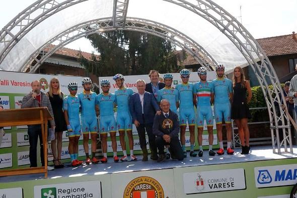 Astana, la squadra di nVincenzo Nibali (Foto Pisoni)