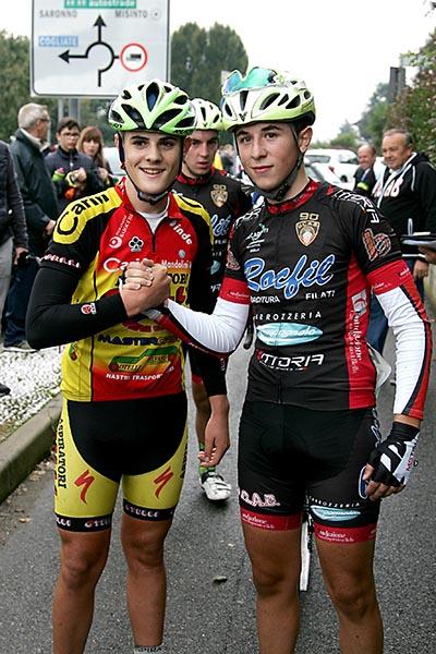 Da sx Bergamin e Palma, primi due classificati a Misinto (Foto Kia)