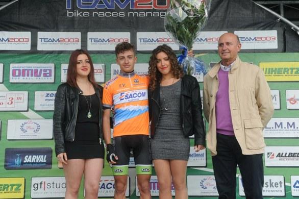 Mattia Petrucci vincitore classifica vincitori traguardi volanti (Foto Rodella)