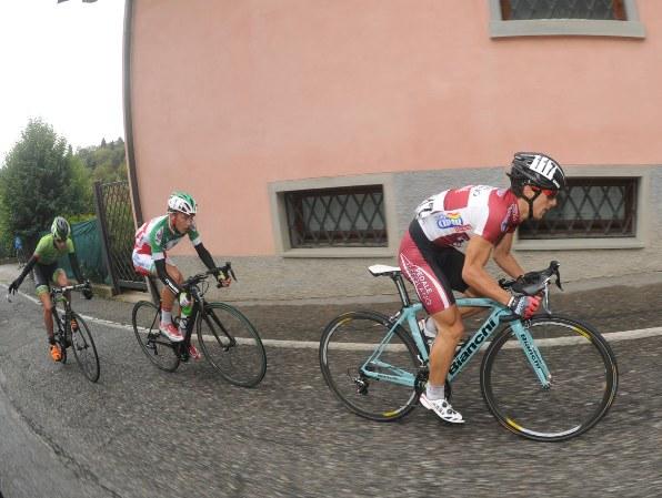 Rubino, Bagioli e Zana, un podio in bicicletta (Foto Rodella)