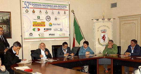 Sala presentazione 52^ Giornata Nazionale della Bicicletta (Foto Kia Castelli)