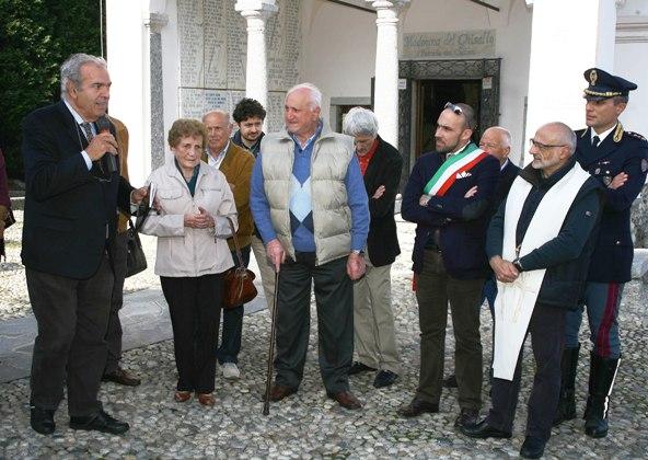Sergio Meda presentazione Stele Don Luigi Farina (Foto Berry)