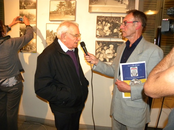 Tino Guffanti intervistato a Cavaria (Foto Nastasi)
