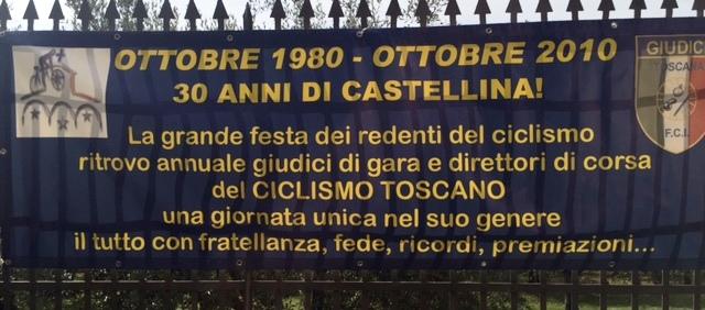 25.10.15 - Striscione rievocativo 30 anni Castellina Giudici Fci Toscana