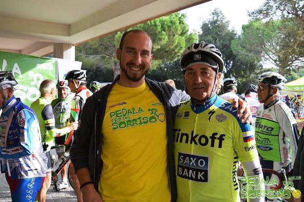 05.11.15 - Il Presidente Luca Centomo con il famoso Gigi Sgarbozza ex campione pro. e popolare opinionista ciclismo a Rai Sport