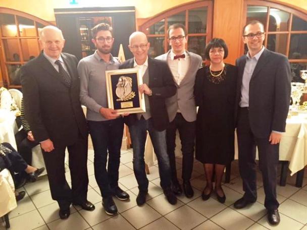 La premiazione di Dario Cataldo