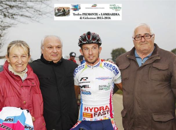 Bianco Marco con lo sponsor Cerone e Sergio