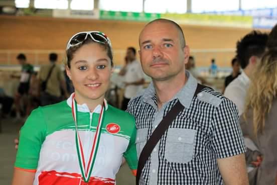 Michela Pavin col papa^