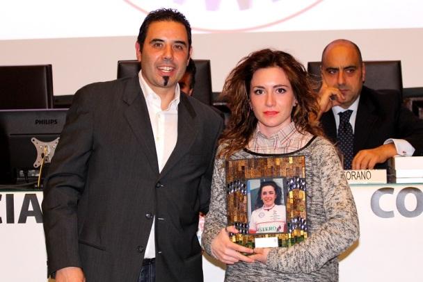 Consigliere CP-FCI Varese Giaron premia Matilde Vallari