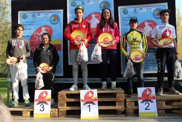 Ciclocross - Podio masci e femmine categoria Allievi