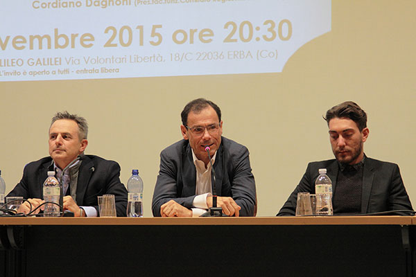 Da sinistra Fabio Perego, Davide Cassani e Giacomo Nizzolo (Foto Kia Castelli)