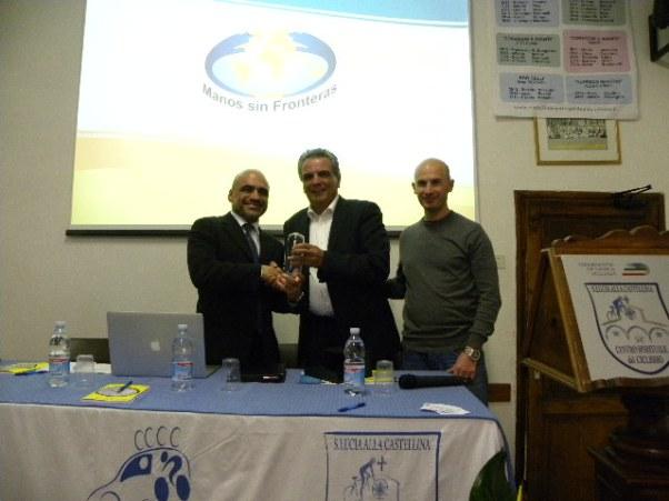 Franco Gini con Davide Goetz e Marco Marzano (Foto Nastasi)