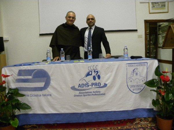 Padre Nicola, Rettore del Convento della Castellina col Presidente dell'Adispro, Davide Goetz (Foto Nastasi)