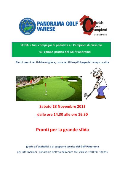 24.11.15 - Locandina Golf 28 nov. 2015