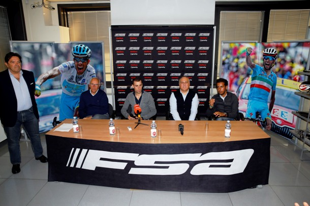 Conferenza Stampa Vincenzo Nibali e Fabio Aru in sede FSA - 24/11/2015 -  - foto Luca Bettini/BettiniPhoto©2015