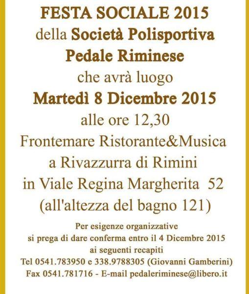 25.11.15 - 2^ LOGO INVITO FESTA SOCIALE