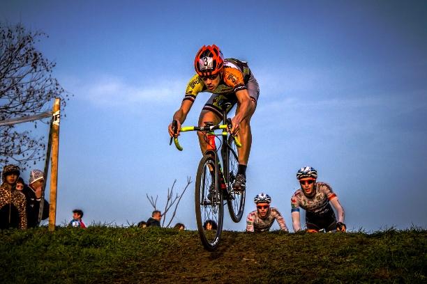 Cristian Cominelli in azione a Brugherio (Foto Biliani)