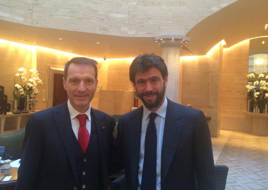 Dr. Fabrizio Iseni a sx e Dr. Andrea Agnelli a Dx