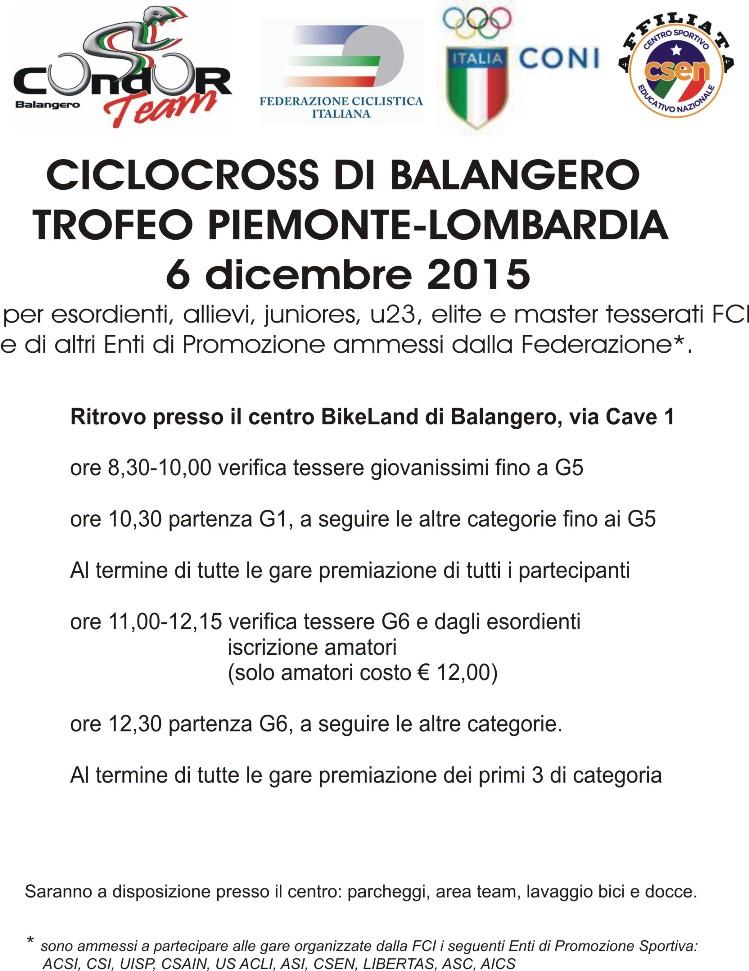 03.12.15 - locandina cross balangero