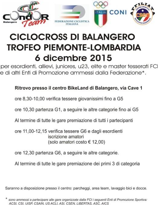 06.12.15 - Locandina Balangero