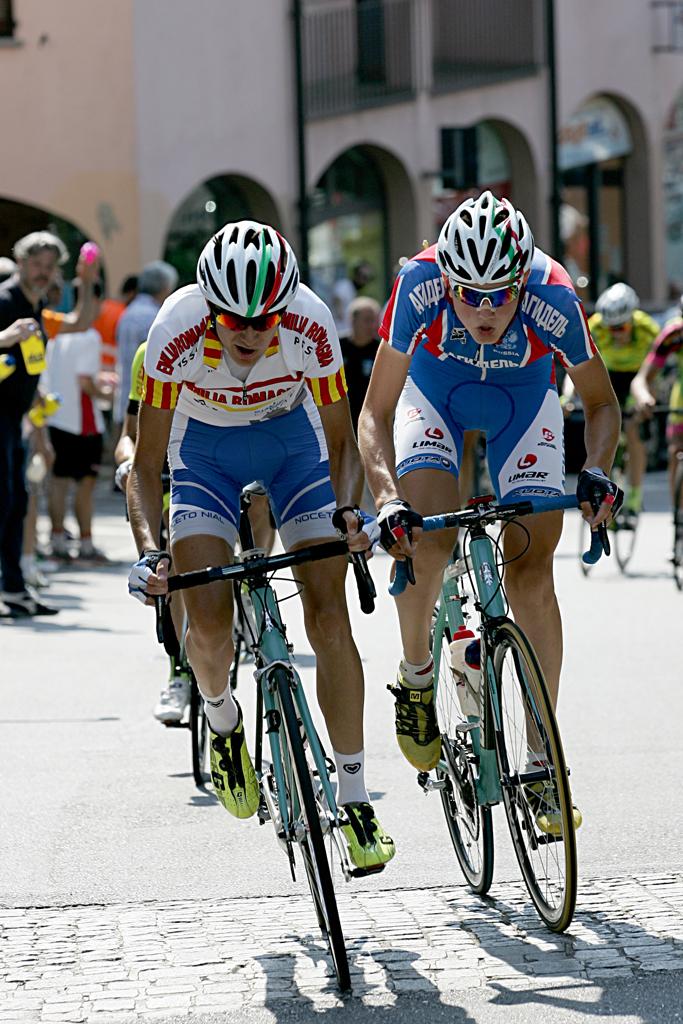Luca Covili nella lunga fuga nel 19^ GP dell'Arno (Foto Berry)