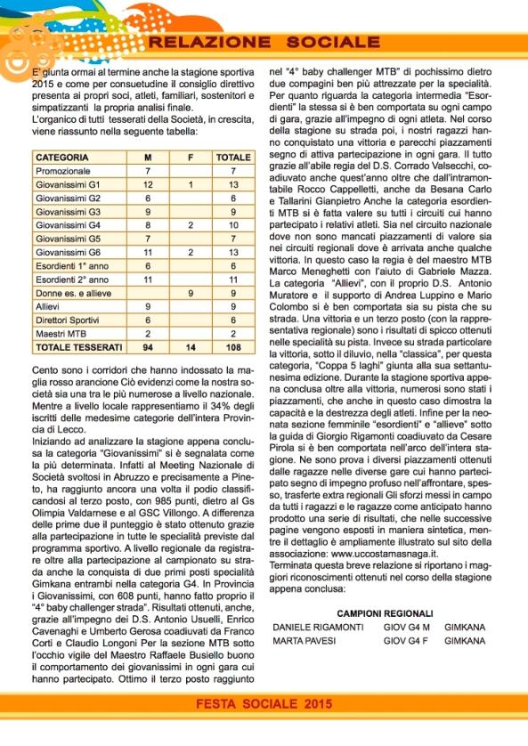 07.12.15 - RELAZIONE SOCIALE  -  2