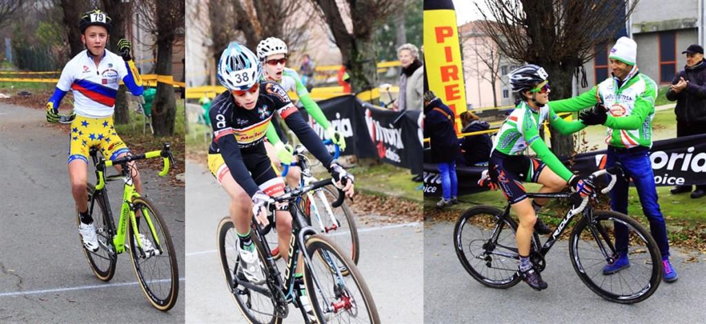 Luca Pescarmona, a sx, vince gara allievi a Borgosesia (Foto Soncini)