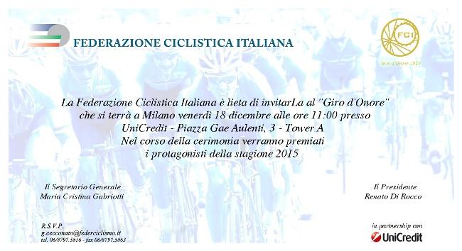 17.12.2015 - Invito Giro d'Onore 2015