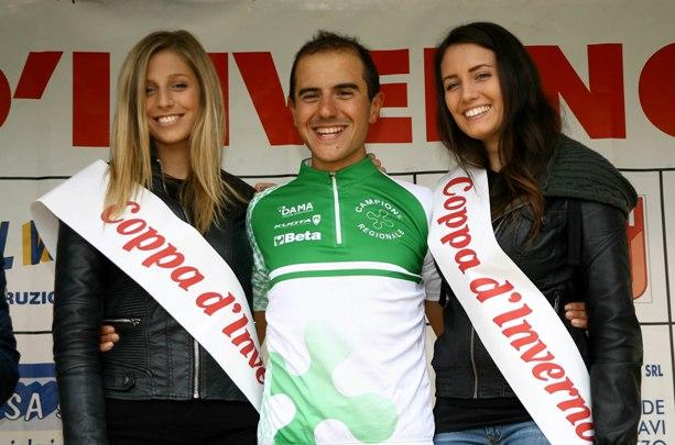 Cristian Marzoli in maglia di Campione Regionale Lombardo  Elite (Foto Berry)