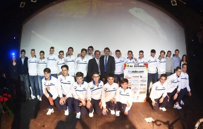 Le due formazioni, Allievi e Juniores Team Giorgi 2016 (Foto Rodella)