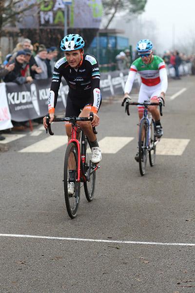 """Marco Ponta vincitore Ciclocross della Vigilia (Foto Giuseppe Castelli in arte """"Kia)"""